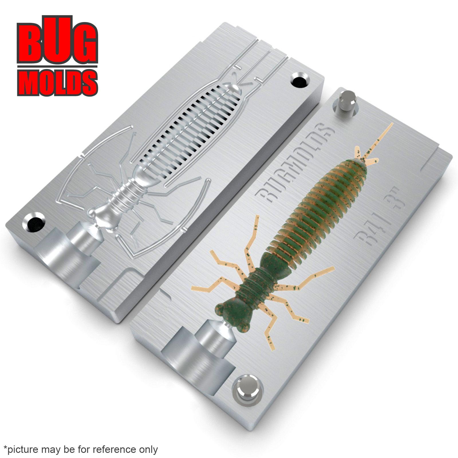 Fishing soft bait mold LarvaLux 4,5 inch model B140
