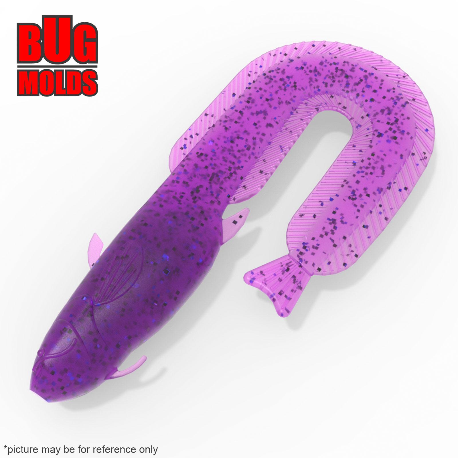 Stone plastic soft bait mold Catfish 4,5 inch model T202
