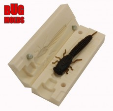 Fishing soft bait mold X-Larva 3 inch model ID B131 from Bugmolds
