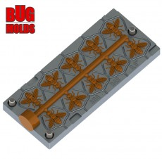 Fishing Soft Bait Multi-cavity Aluminum mold AngryBaits Fly 0.6 inch 10-cav vol. 0.21 fl oz (6.25 cm^3) 1 injection port diam. 5/8 inch (16 mm) ID B49_10a1 from Bugmolds