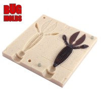 Fishing soft bait mold Rodent 3 inch model ID C142 from Bugmolds