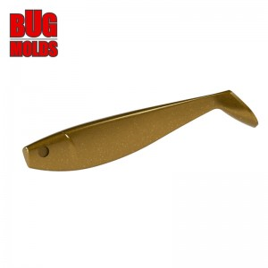 Fishing soft bait mold Shad GT 4,4 inch model ID V233 from Bugmolds