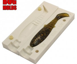 Fishing soft bait mold CanibalShad 4 inch model ID V338 from Bugmolds