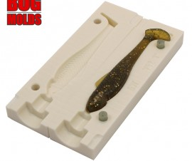 Fishing soft bait mold Ohio 4 inch model ID V54 from Bugmolds