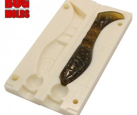 Fishing soft bait mold Kopyto 3,75 inch model ID V715 from Bugmolds