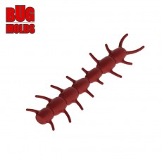 Fishing soft bait mold SpinyWorm 1 inch model ID W158 from Bugmolds